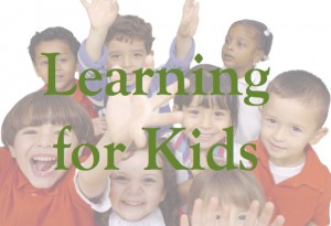 Learning for Kids Button