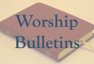 Worship Bulletins Button