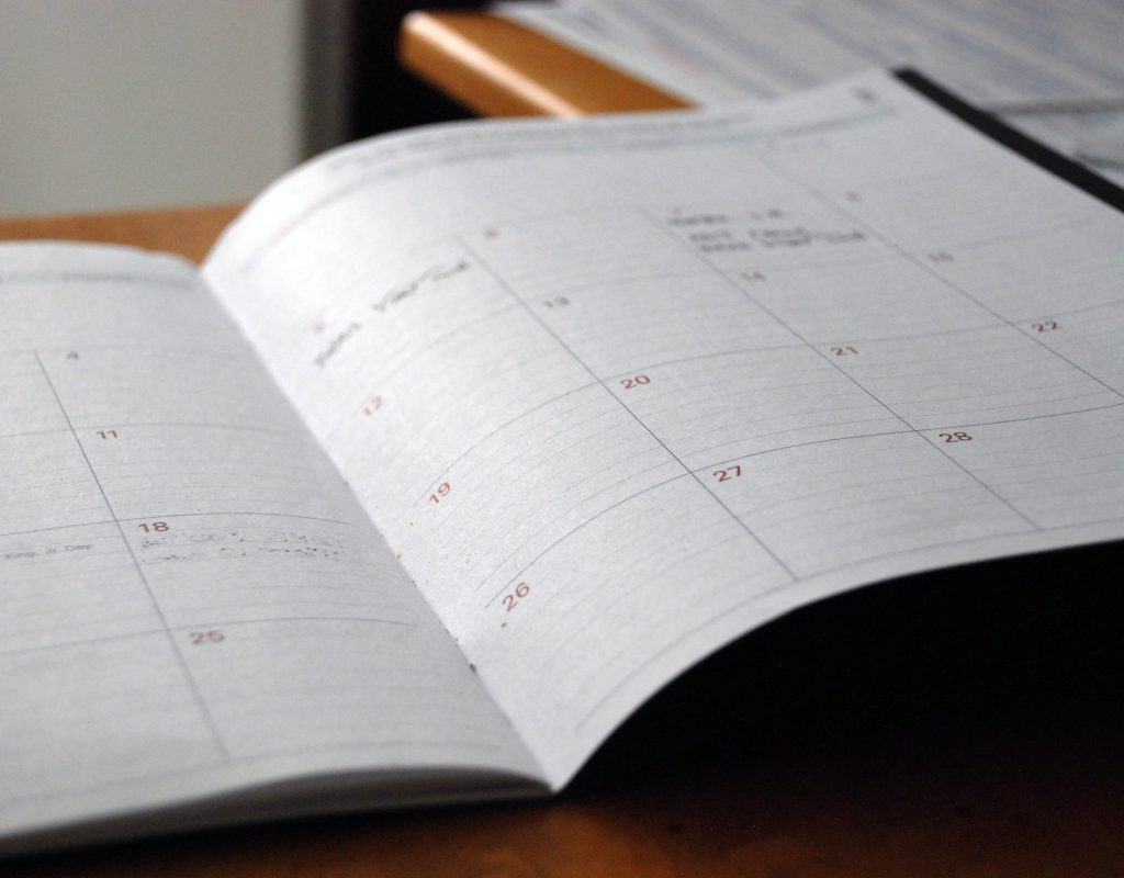 Foreseeable Future – Weekly Parish Calendar